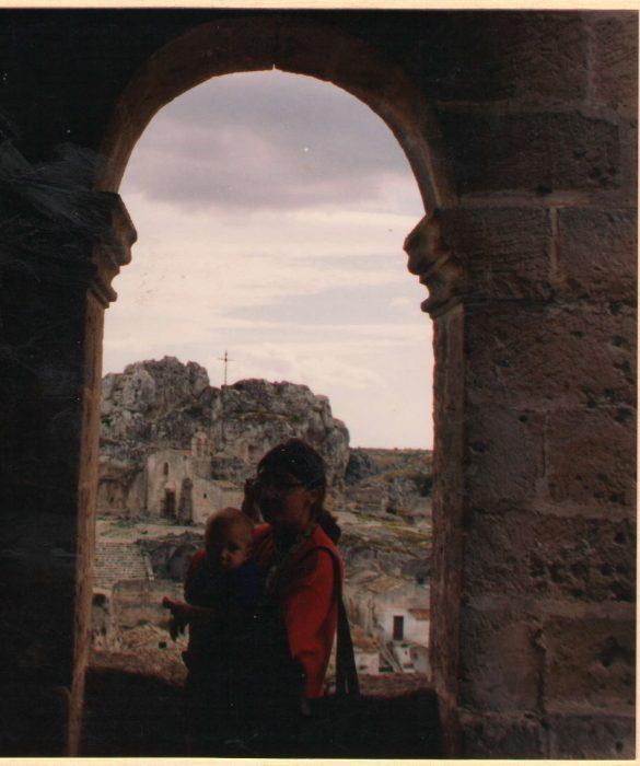 La foto della Vecchia Torre a Matera prima di diventare il museo...forse...